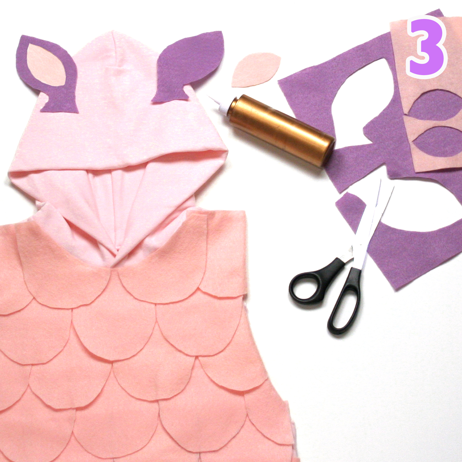 Baa Baa costume step 3