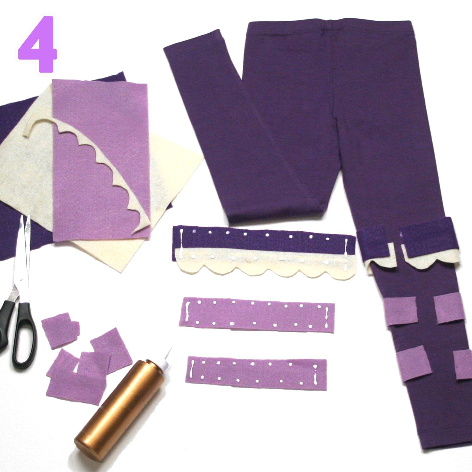 Baa Baa costume step 4