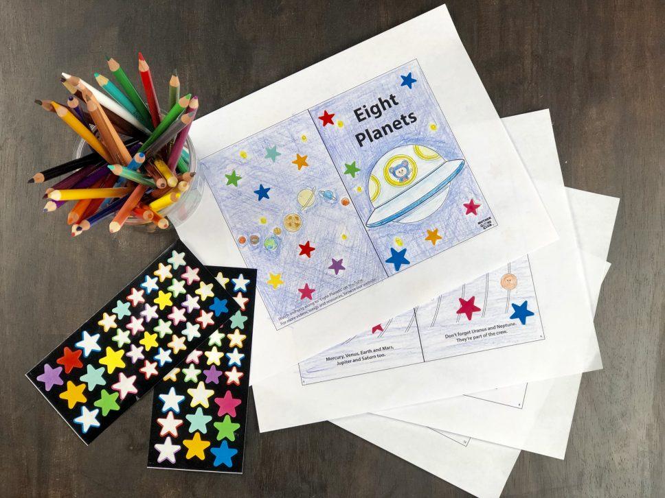 Eight Planet mini book materials