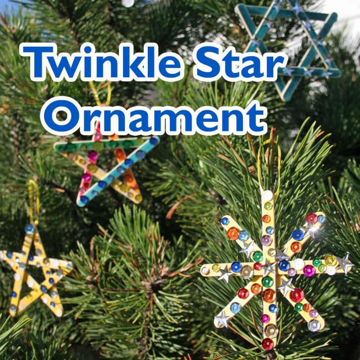 Twinkling Star Ornament Craft final