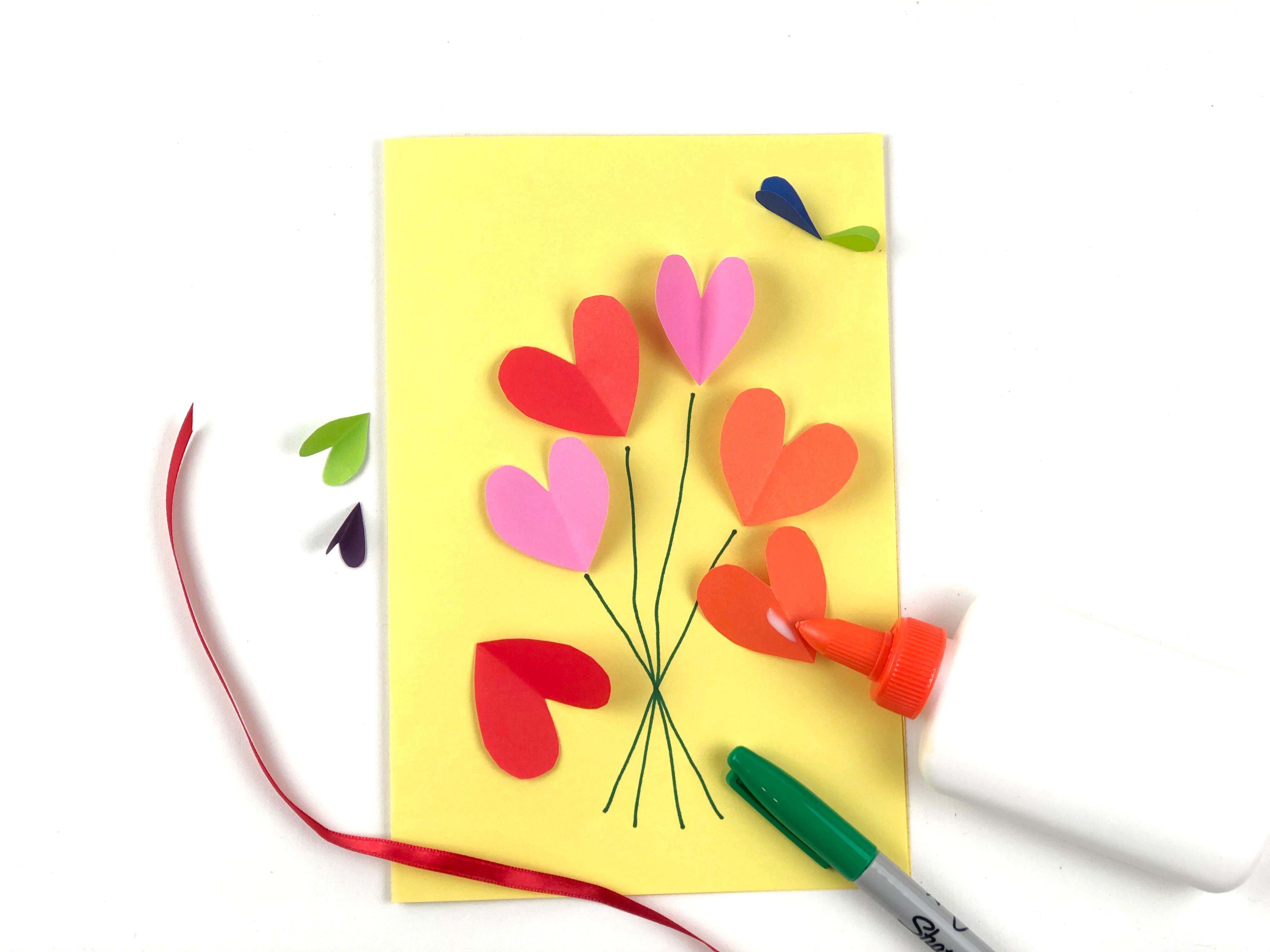 Valentine's Day Card Craft step 2
